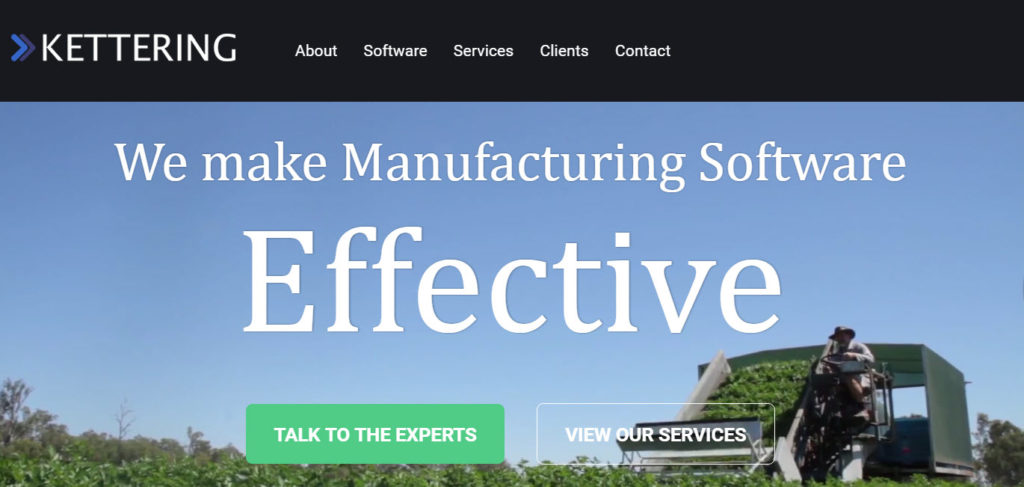 Kettering ERP Manufacturing Website